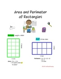 Area and Perimeter Work Station - 16 Task Cards, Recording
