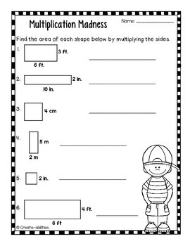 Area and Perimeter Poster and Activity Set