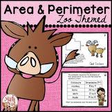 """Area and Perimeter Centers """"Zoo Themed"""""""