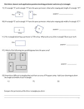 Area and Perimeter 2 day resource  4.MD.A.3