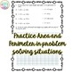 Area and Perimeter Practice Activities / Printables