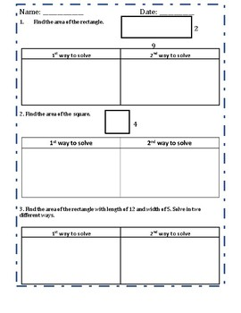 Area and Perimeter Worksheet Bundle