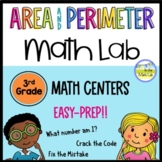 Area and Perimeter 3rd Grade Math Centers