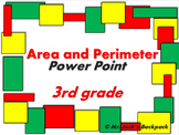 Area and Perimeter 3rd Grade Power Point (42 slides)