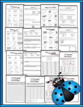 Area and Perimeter 3rd Grade Printables (worksheets, activities, quiz and more)