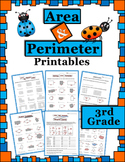 Area and Perimeter Activities (centers, worksheets, quiz a