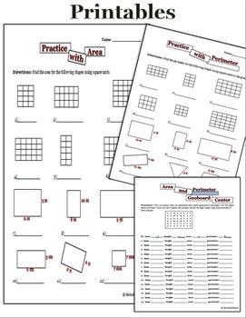 Area and Perimeter 3rd grade common core mini unit