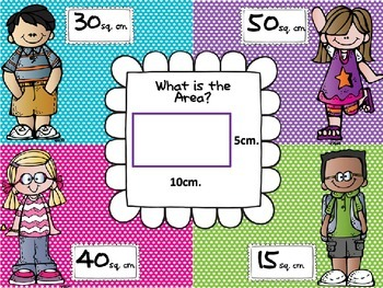 Area and Perimeter 4 Corners Powerpoint Game