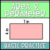 Area and Perimeter Practice: Distance Learning Practice