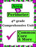 Area and Perimeter 4th Grade Comprehensive Unit (Common Core & More!)
