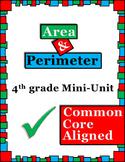 Area and Perimeter 4th grade common core mini unit