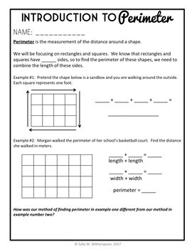 Area and Perimeter, 5 Day Third-Fourth Grade Lesson Bundle, Over 40 pages!