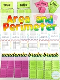 Area and Perimeter Academic Brain Break Activity