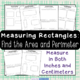 Area and Perimeter Activities - Measuring Rectangles in Inches and Centimeters