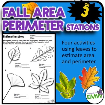 Area and Perimeter Activities - Using leaves to estimate area and perimeter