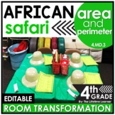 Area and Perimeter 4th Grade - Safari Classroom Transformation