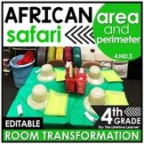 Area and Perimeter 4th Grade | Safari Room Transformation