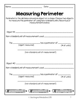 {Grade 2} Area and Perimeter Activity Packet