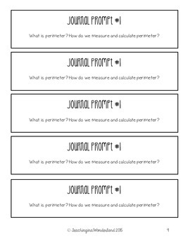 {Grade 4} Area and Perimeter Activity Packet