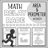 Area and Perimeter Activity Relay Race Game
