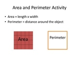 Area and Perimeter Activity - Robot - Math