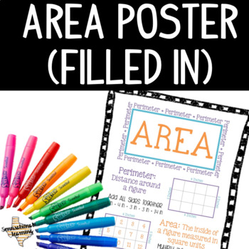 Area and Perimeter Anchor Chart Filled In