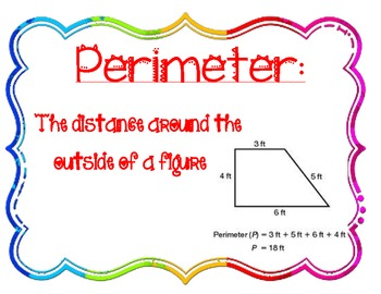 Area and Perimeter Anchor Charts by Beth Bonafield | TpT