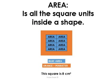 Area and Perimeter Anchor Charts