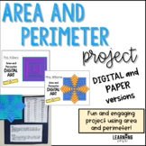Area and Perimeter Art Project - Paper and Google versions!