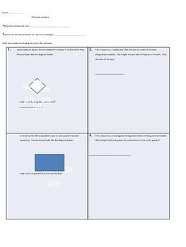 Area and Perimeter Assessment