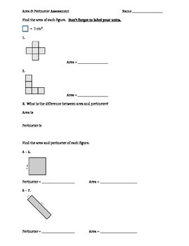 Area and Perimeter Assessment