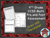 Area and Perimeter Assessment CCSS Aligned