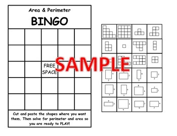Area and Perimeter BINGO