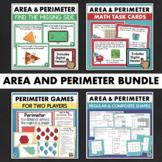 Area and Perimeter Worksheets Games Task Cards Math BUNDLE