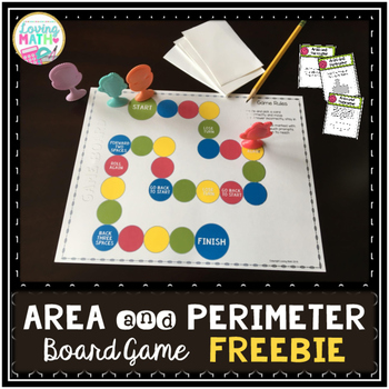 image about Area and Perimeter Printable Games identified as Local and Perimeter Board Match FREEBIE