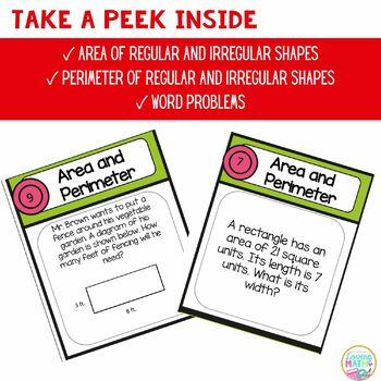 Area and Perimeter Board Game FREEBIE