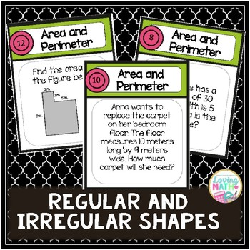 Area and Perimeter Board Game - Metric Units Version FREEBIE