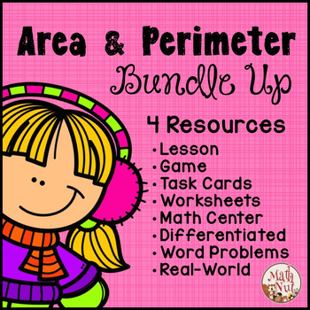 """Area and Perimeter Bundle Up """"Area and Perimeter Centers"""""""