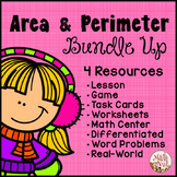 "Area and Perimeter Bundle Up ""Area and Perimeter Centers"""