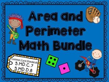 Area and Perimeter Bundle CCSS
