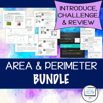 Area and Perimeter Bundle (Interactive Notebooks, Challenge, and Review)