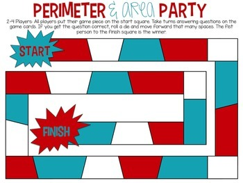 Area and Perimeter Bundle: Task cards, Game and Craft