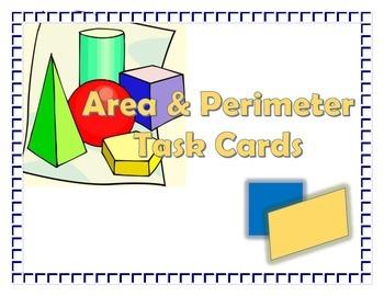 Area and Perimeter Card Sort