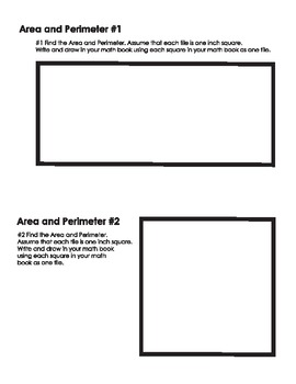 Area and Perimeter Cards