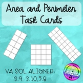 Area and Perimeter SCOOT or Task Cards with Interactive Ac