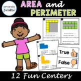 Area and Perimeter Centers for 3rd Grade, Math Centers for
