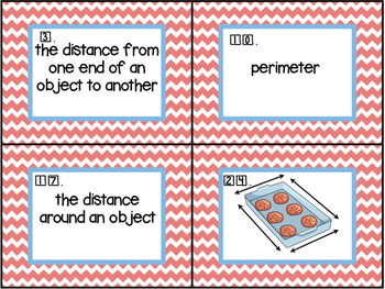 Area and Perimeter Vocabulary Match