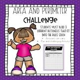 Area and Perimeter Challenge
