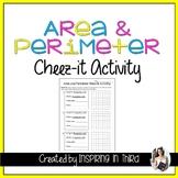 Area and Perimeter Cheez-it Activity