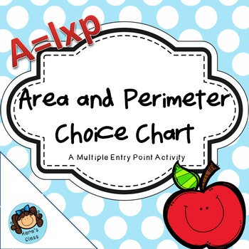 Area and Perimeter Choice Chart- Multiple Entry Points